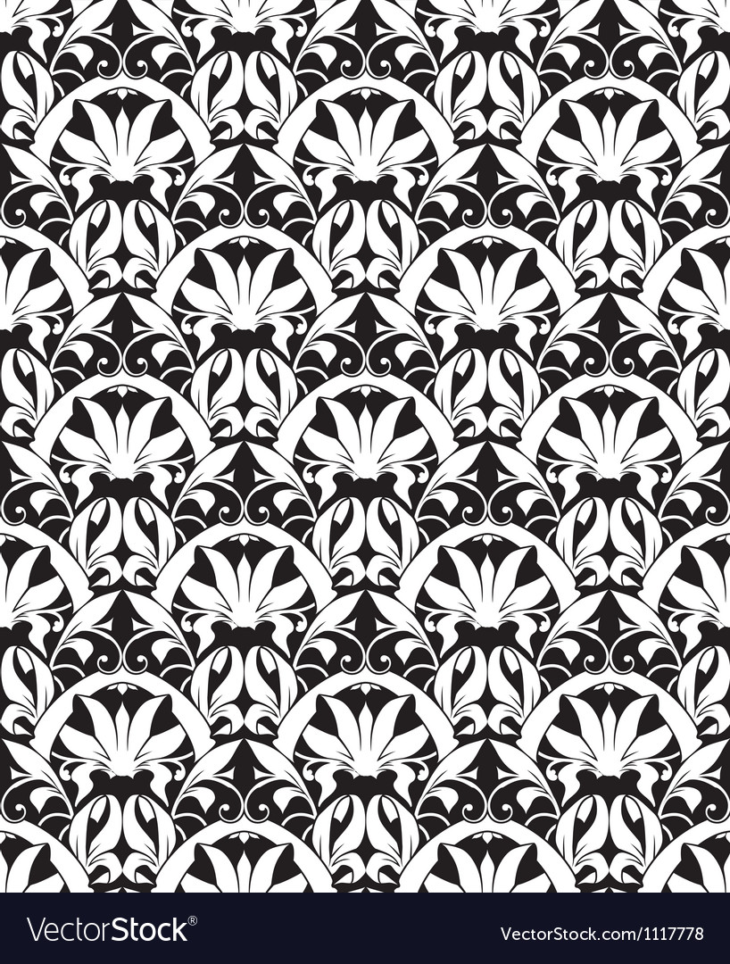 White seamless pattern silhouette vector