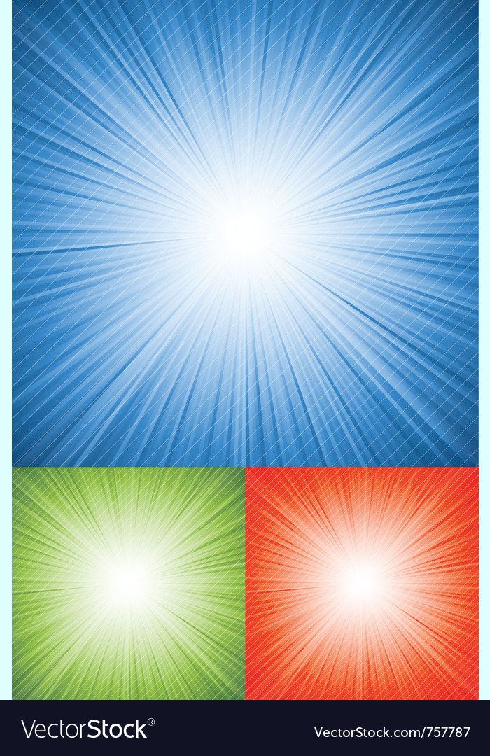 Blue retro burst abstract background vector