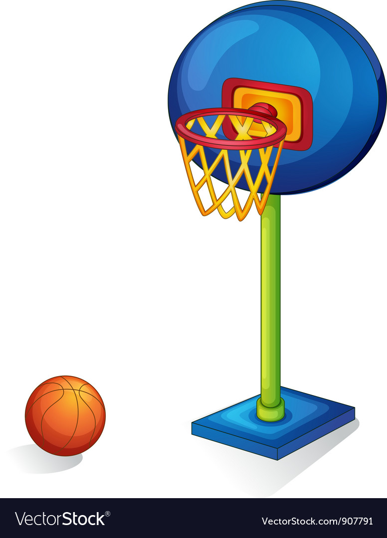 Basketball ring and ball vector