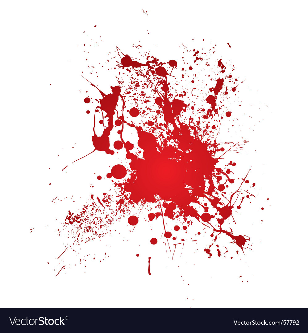 Bloody splat vector