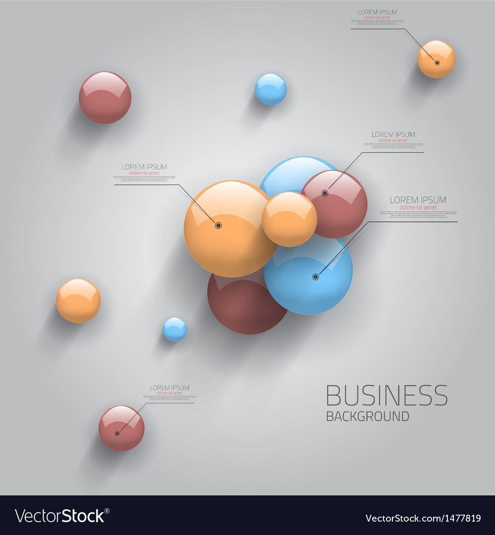 Business sphere design vector