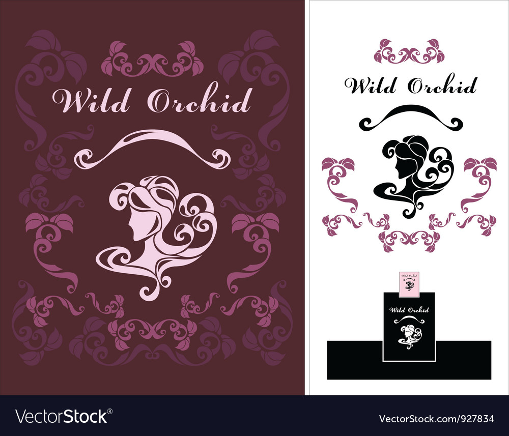 Wild orchid vector
