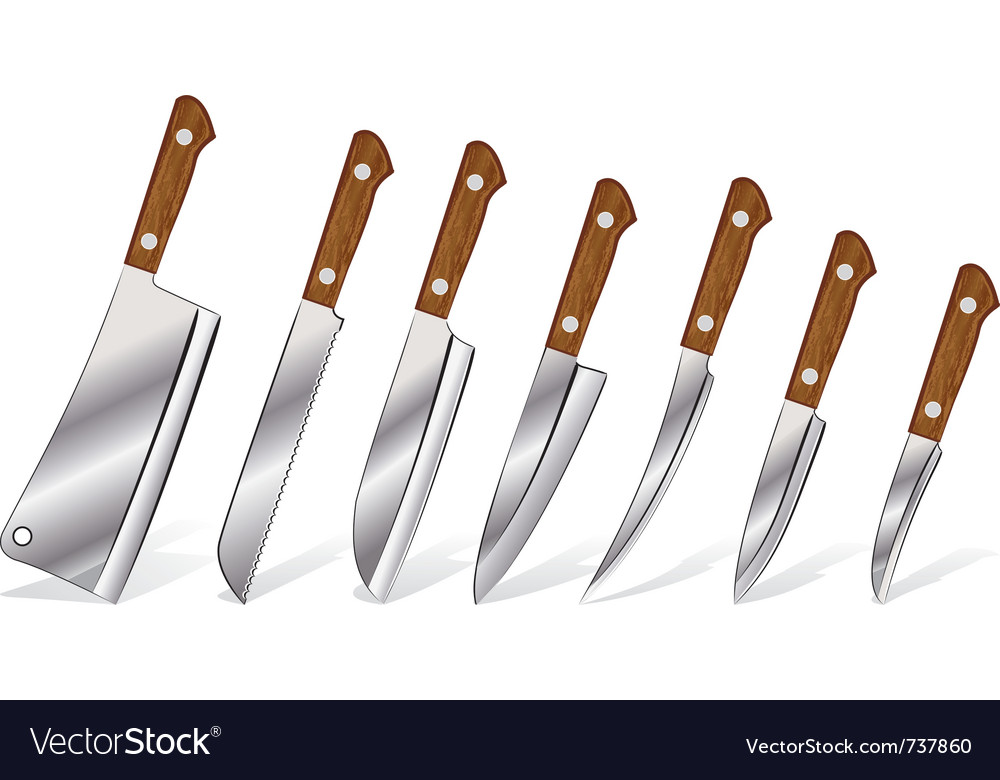 A set of knives vector