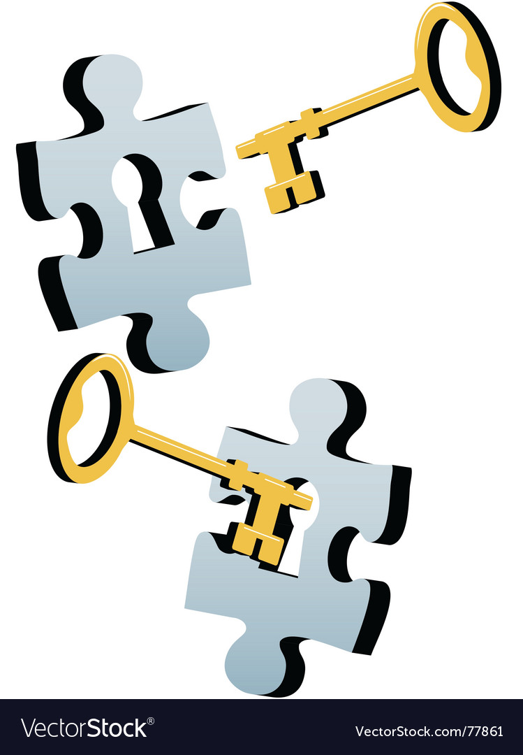 Jigsaw key vector