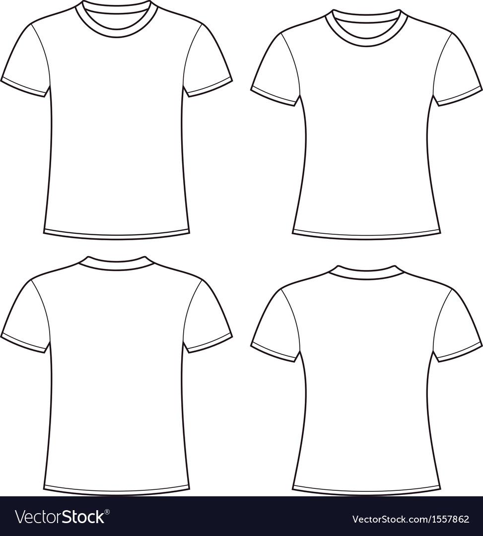 White T Shirt Template Model