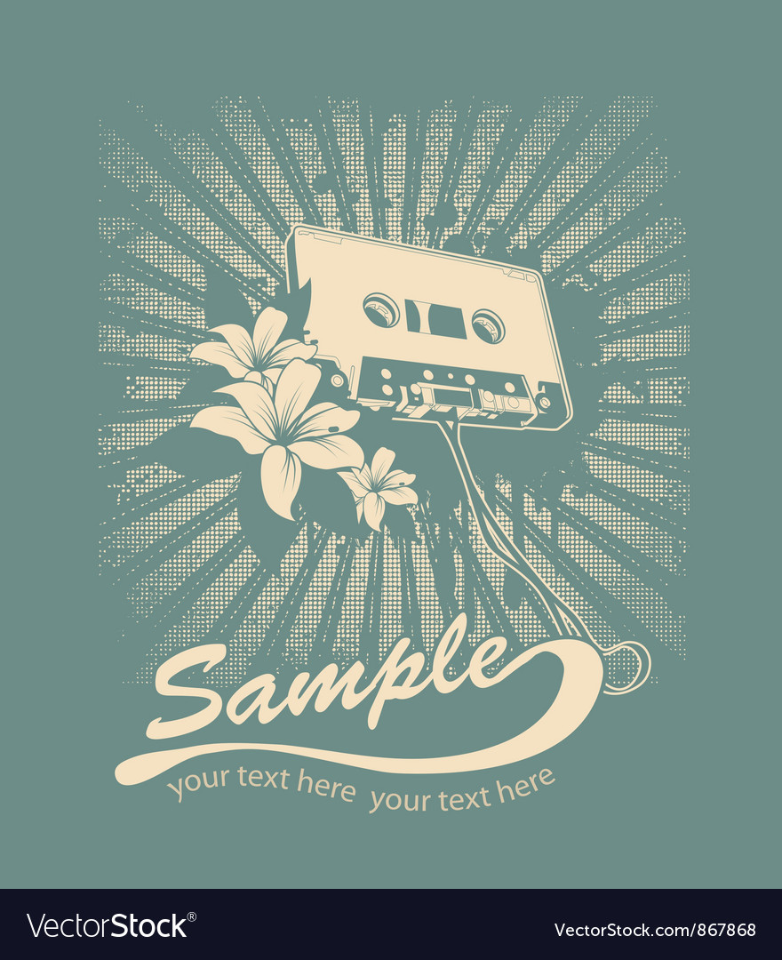 Free music tshirt design vector