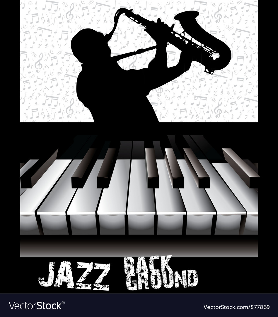 Jazz background vector