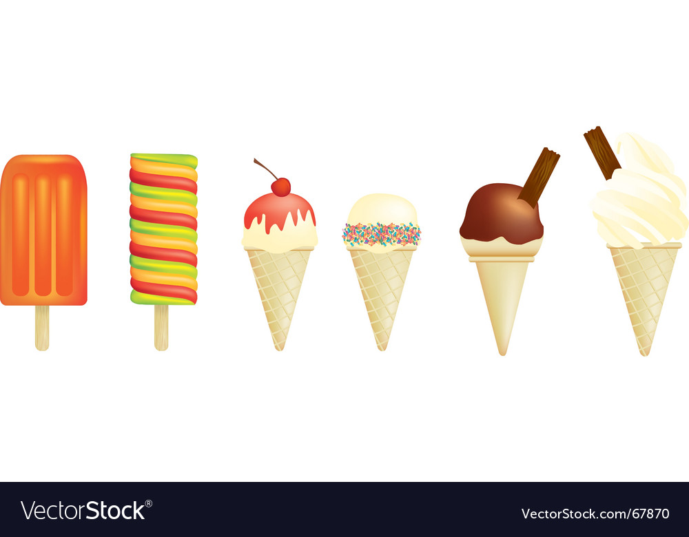 Ice creams vector