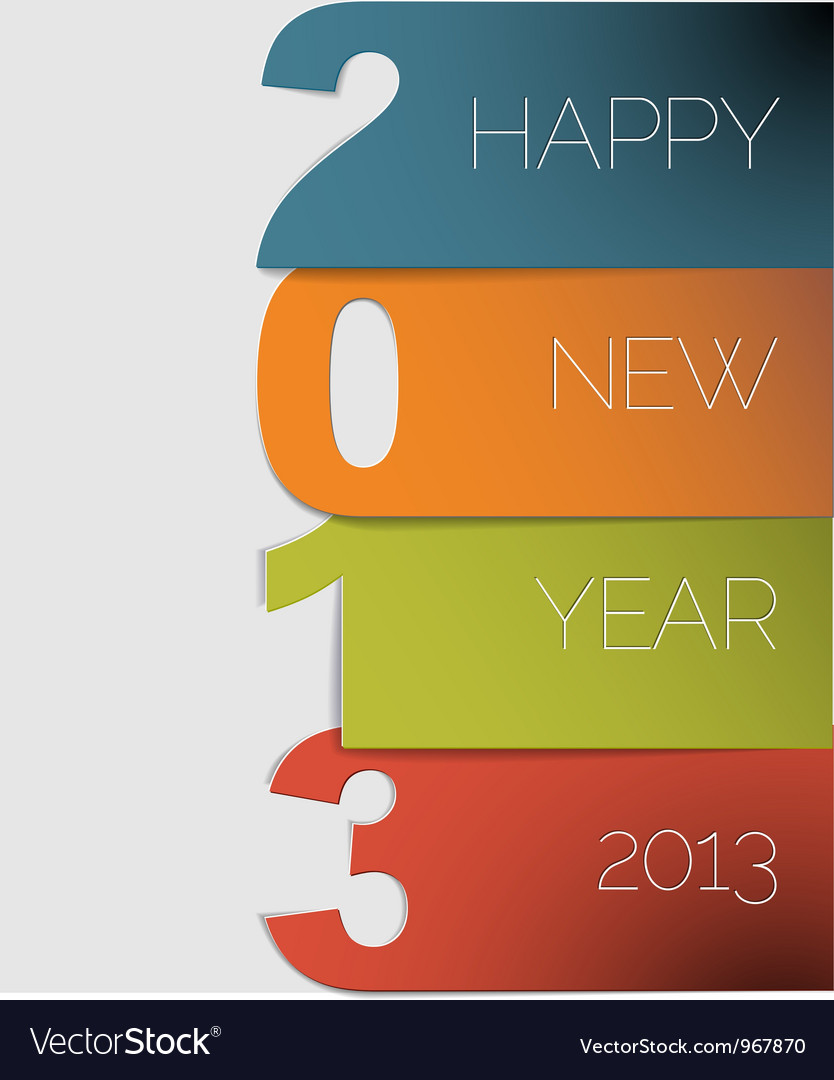 New year 2013 card vector