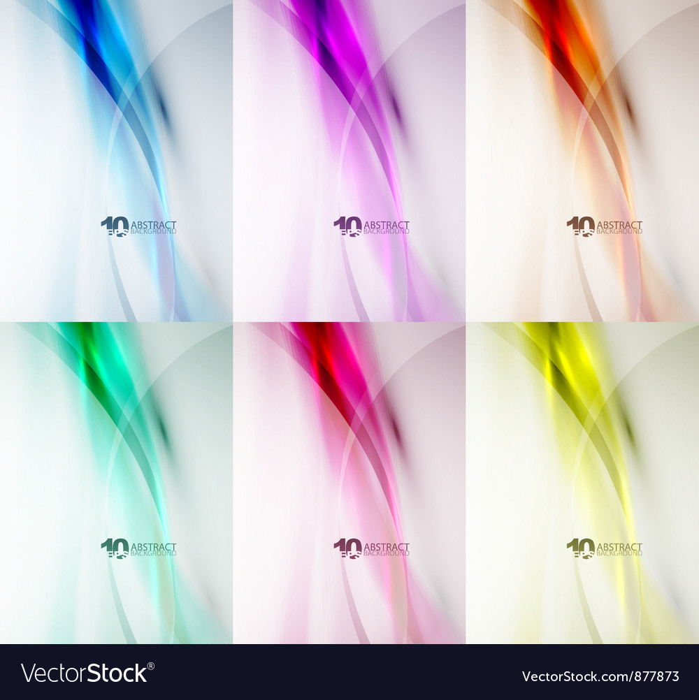 Wave color backgrounds vector