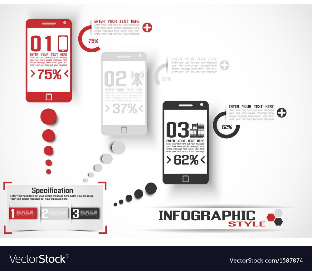 Infographic modern style mobile 2 vector