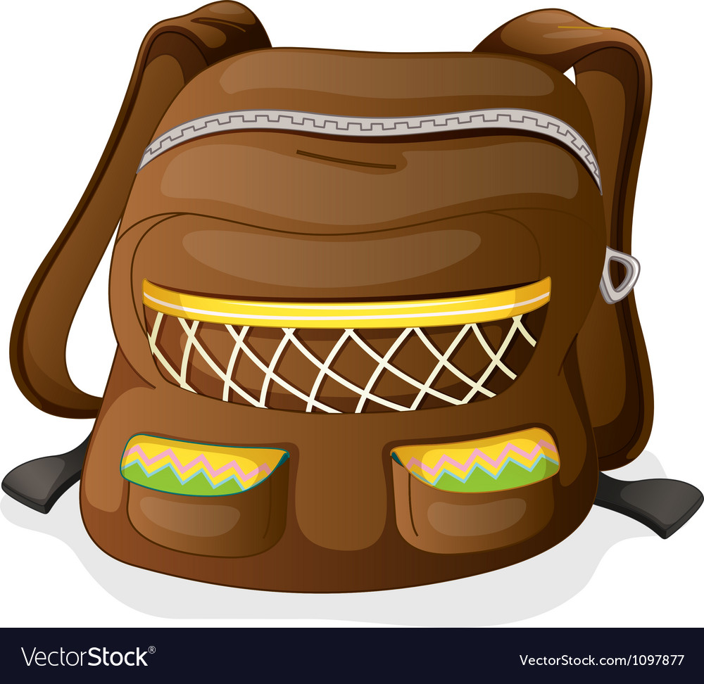 A school bag vector