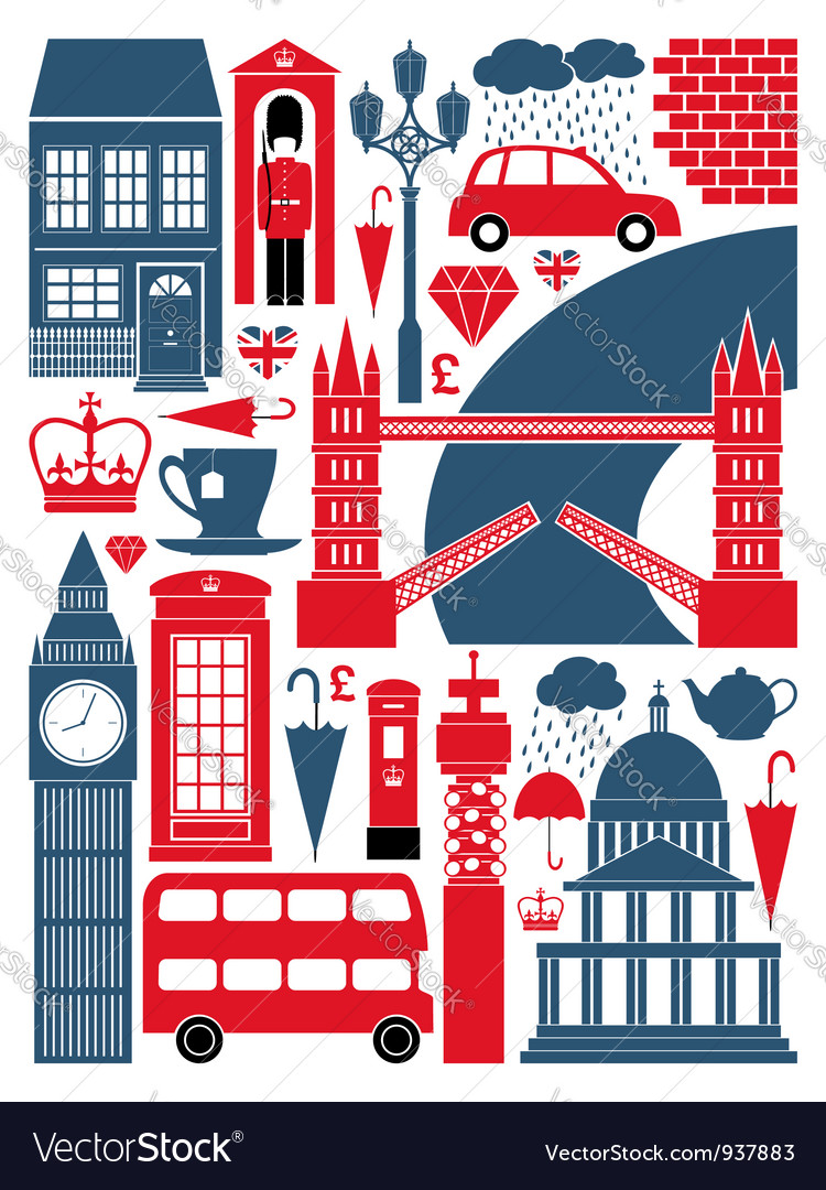 London symbols set vector