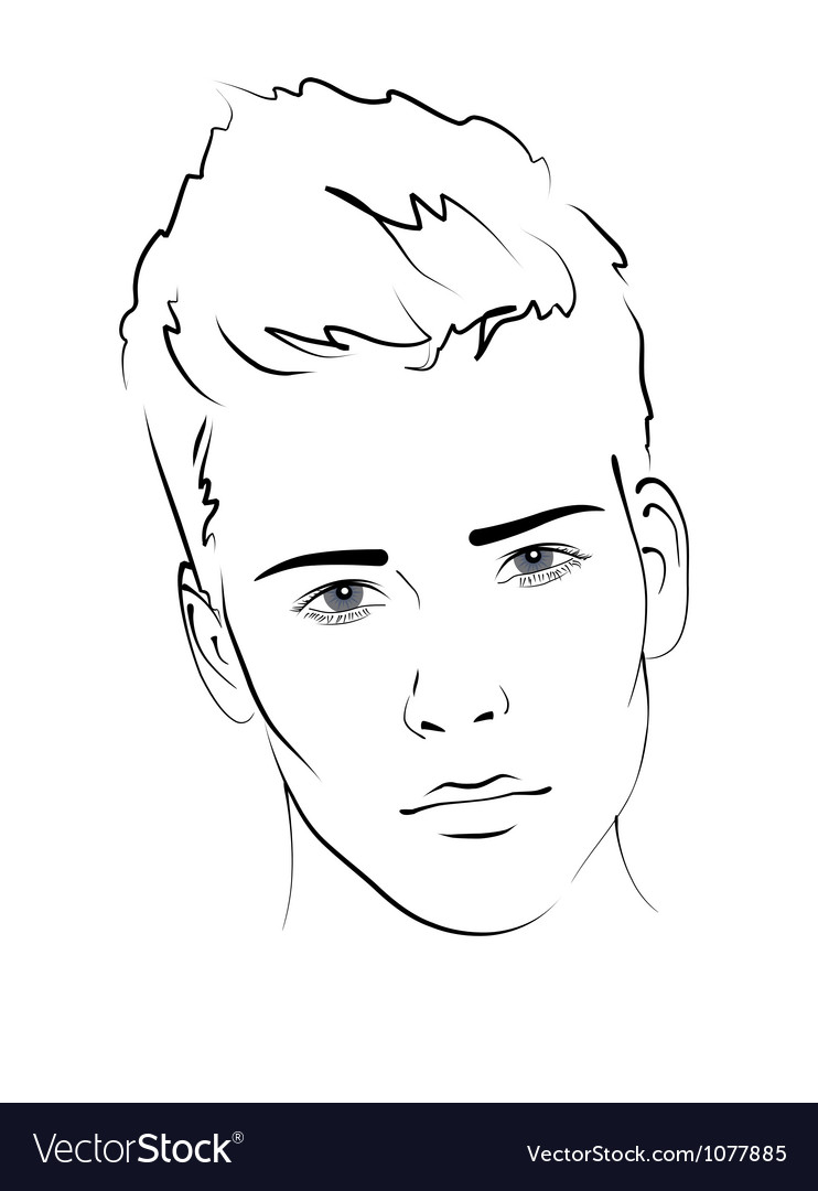 Sketch portrait of a man vector