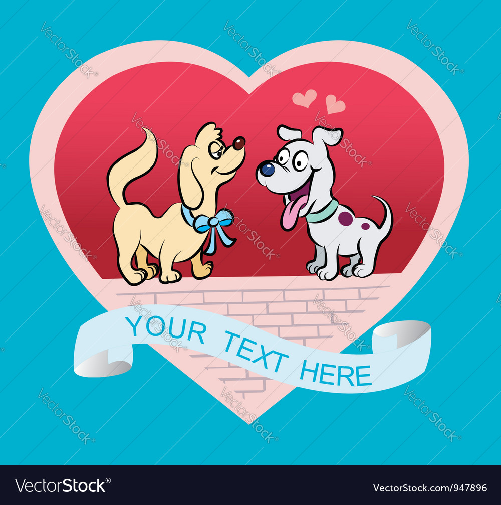 Doggy cartoon vector