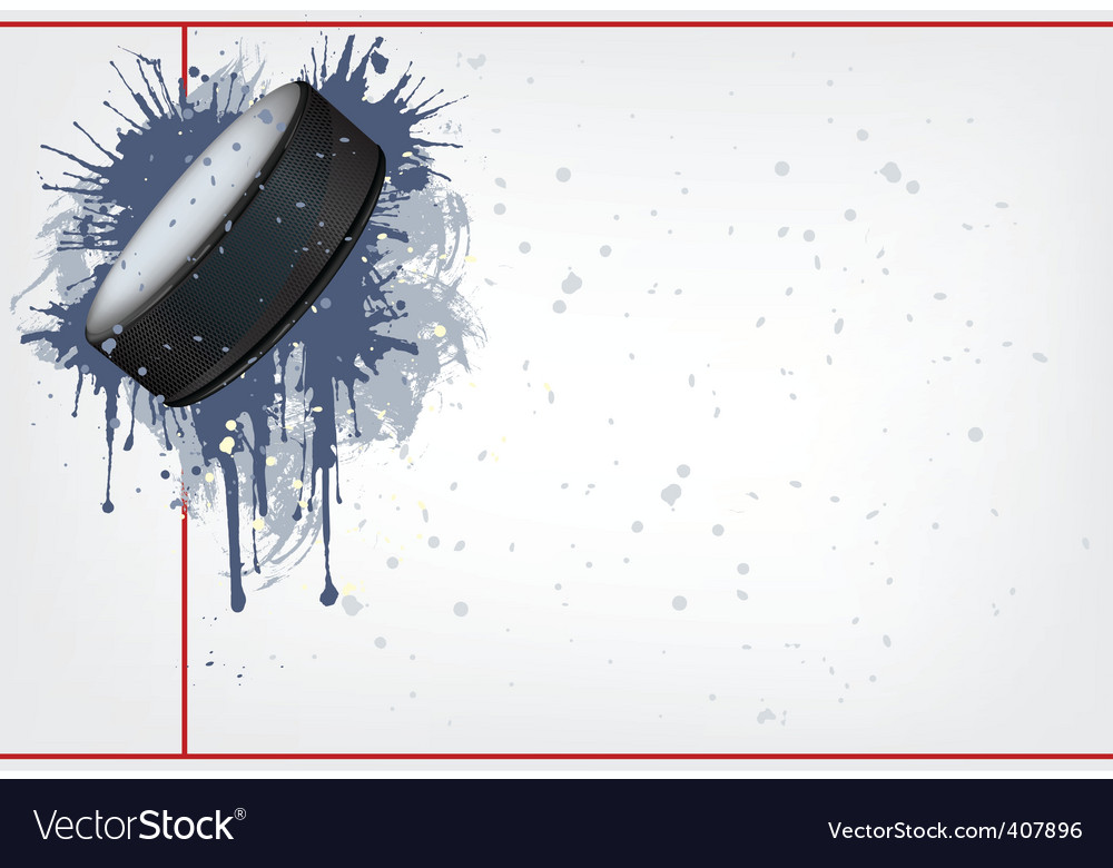 Hockey puck vector