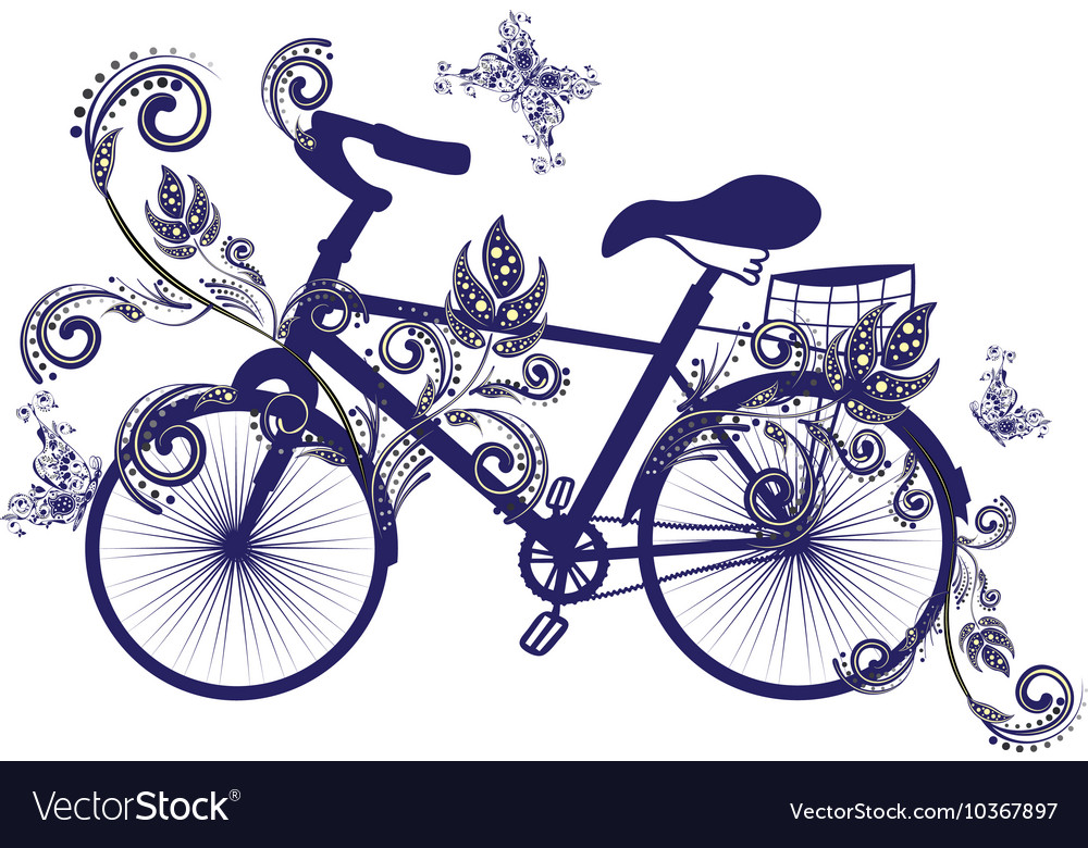 Bicycle and floral ornament3