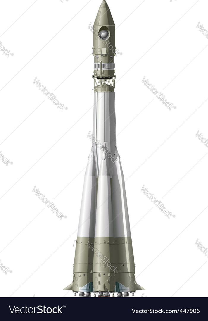 Hi detailed space rocket vector