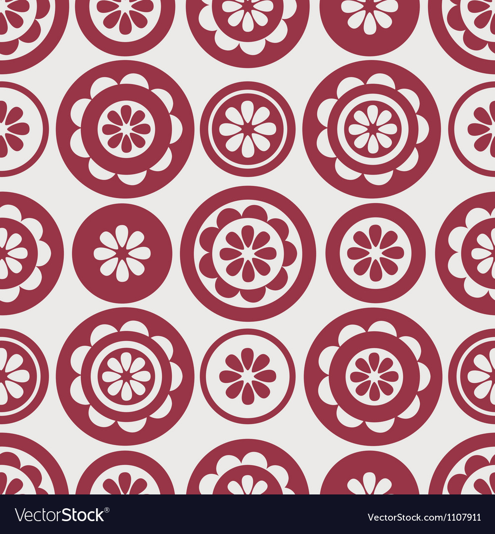 Pattern floral seamless vector