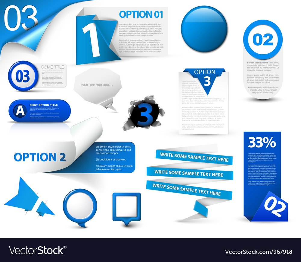Web element icons vector