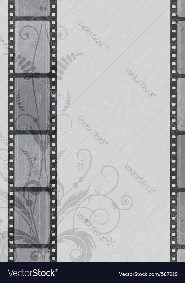 Film strip background vector