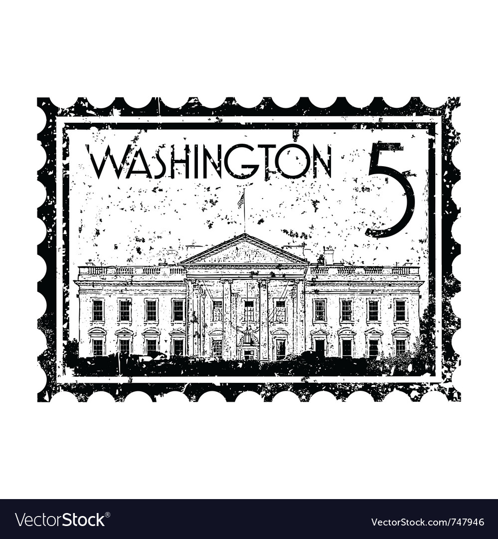 Washington icon vector