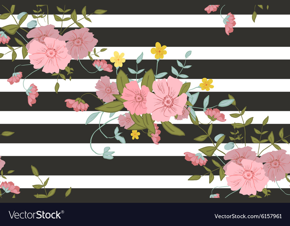 Abstract floral composition with large and small