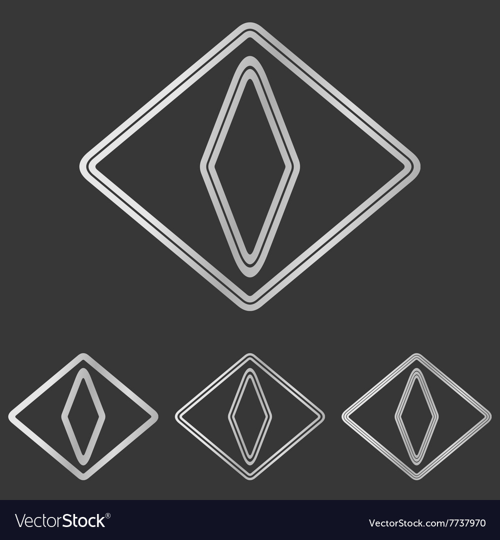 Silver cat eye logo design set