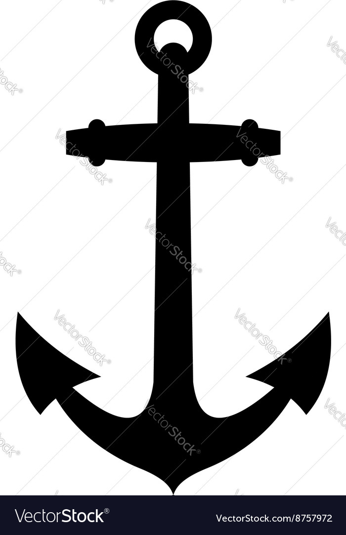 Anchor Silhouette Vector By Heraldvector Image 8757972