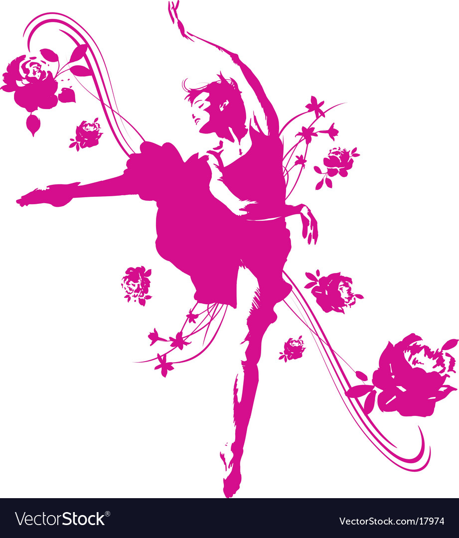 Dancer graphic vector