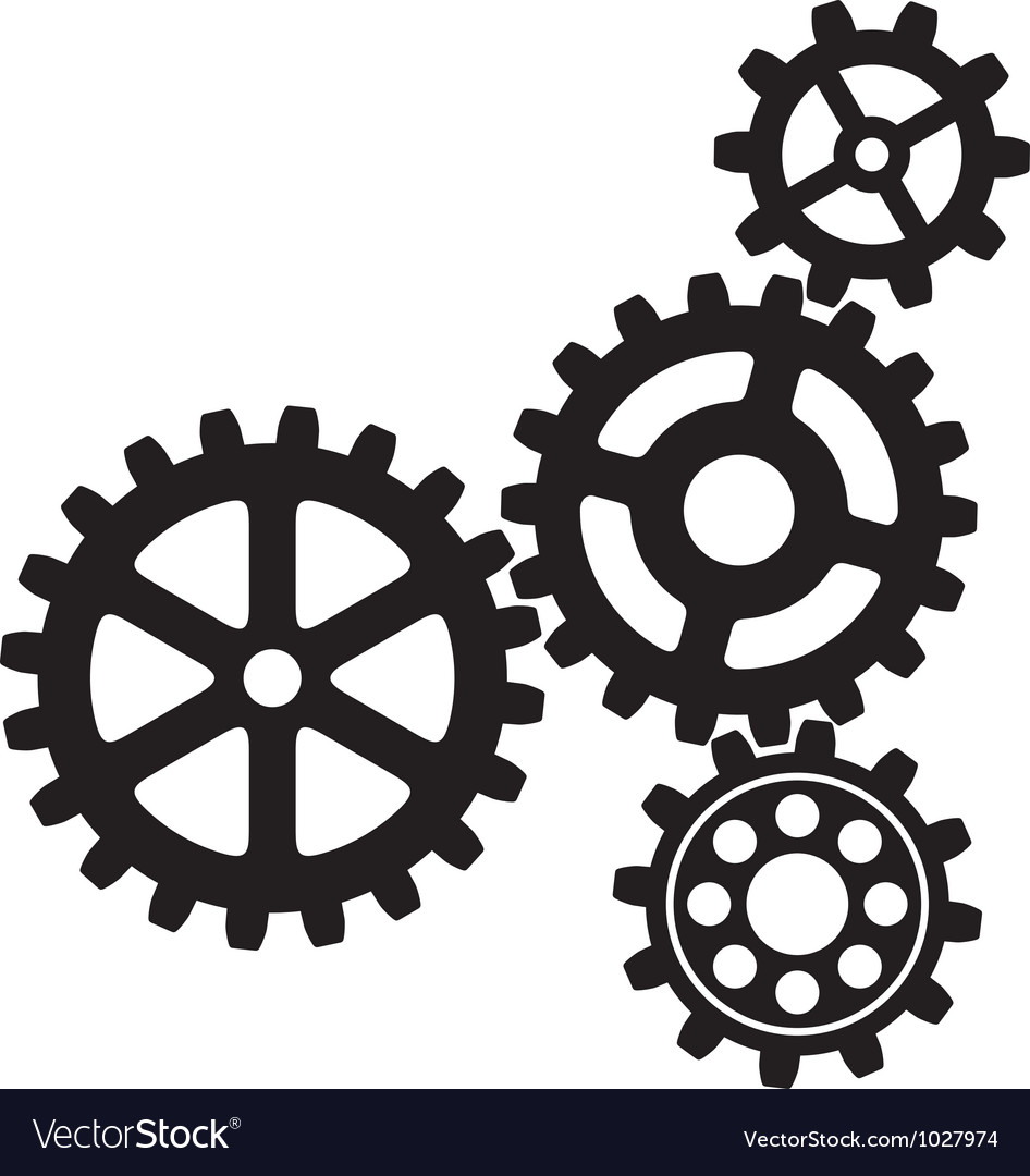 Growing gears icon vector