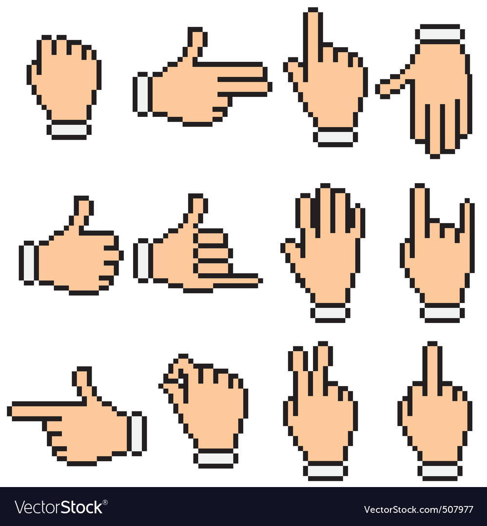 Hand pictograms vector
