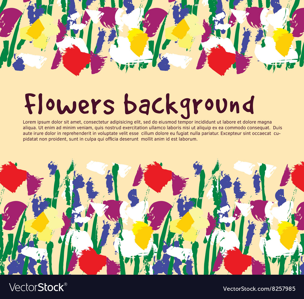 Flowers background empty place nature vector