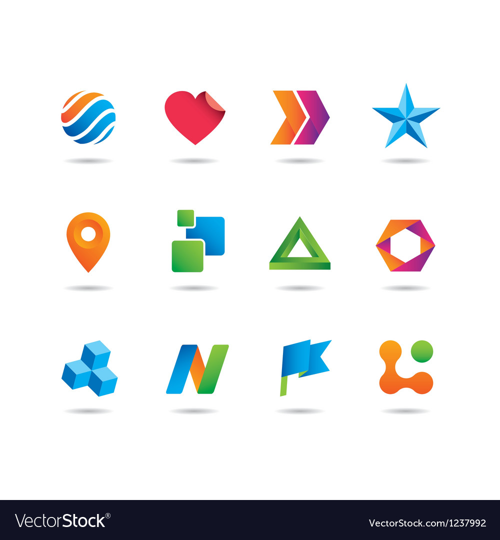 Logo set vector