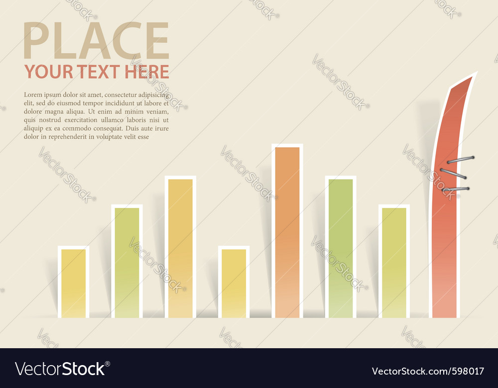 Conceptual business charts vector