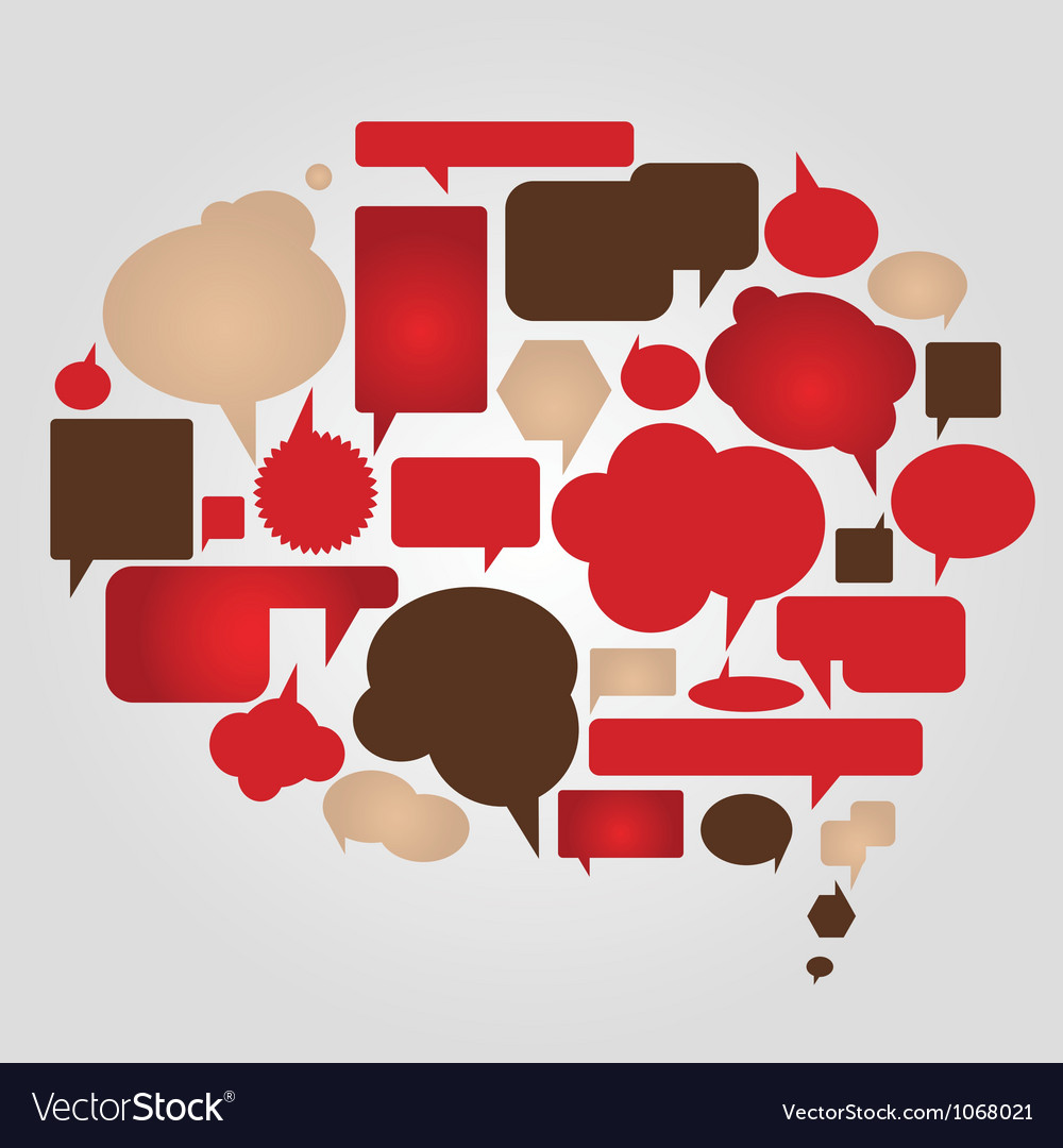 Dialog bubbles set vector