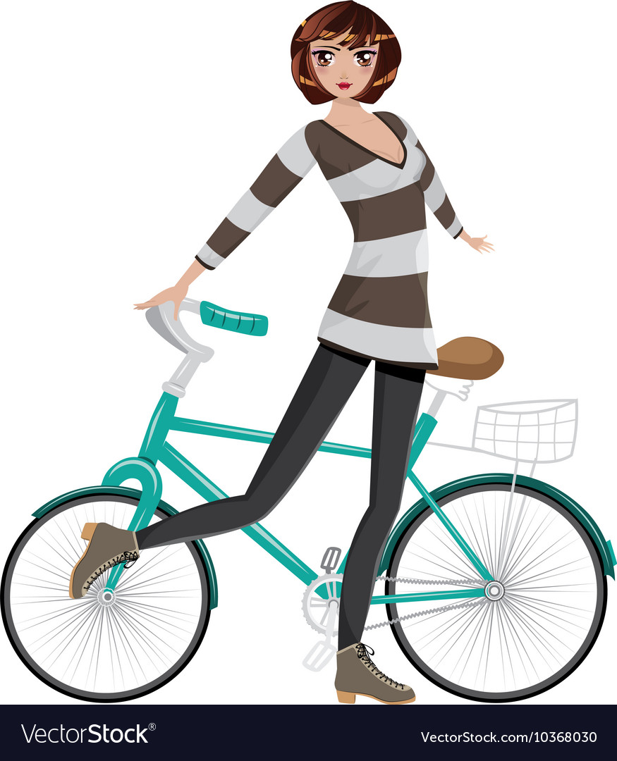 Girl with bicycle4