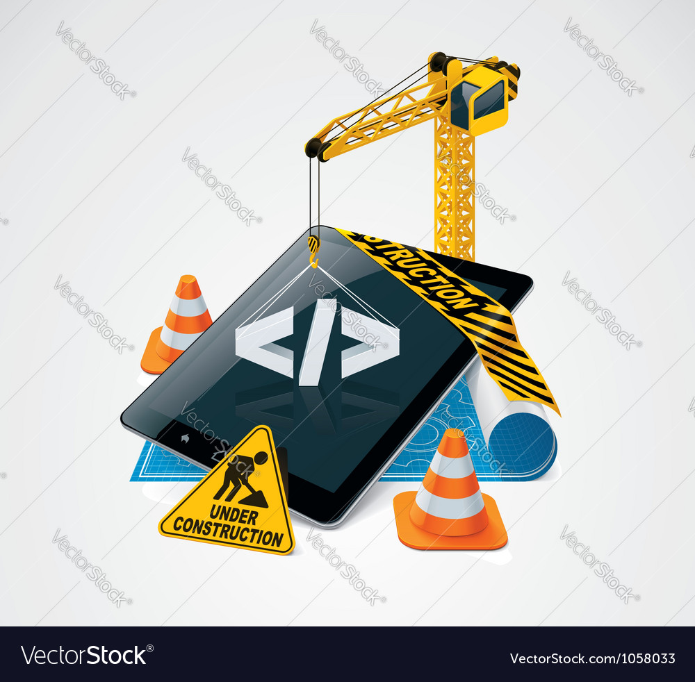 Website construction icon vector