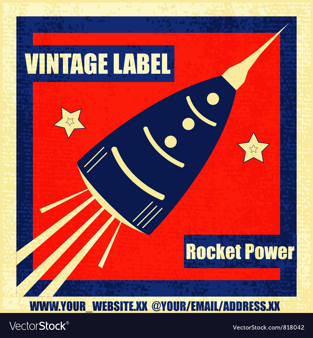Retro rocket vector