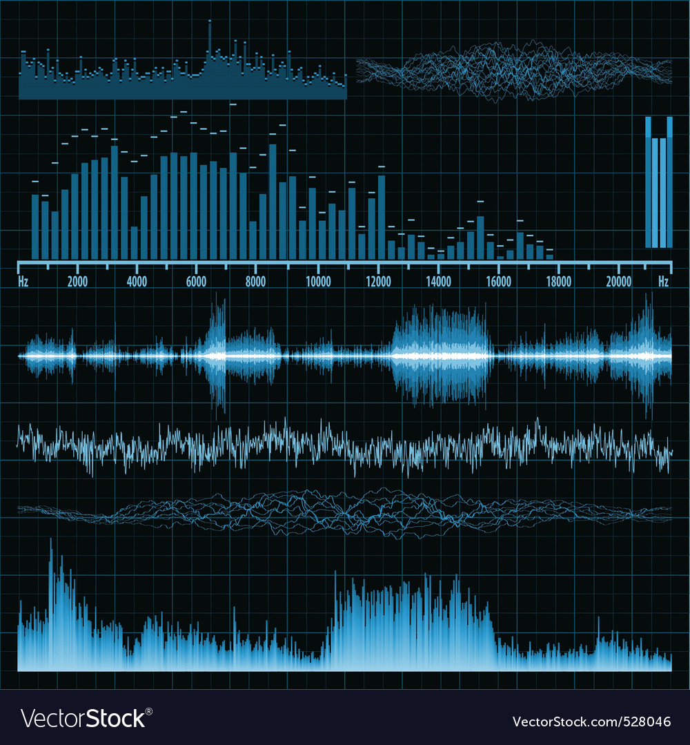 Sound waves music background vector