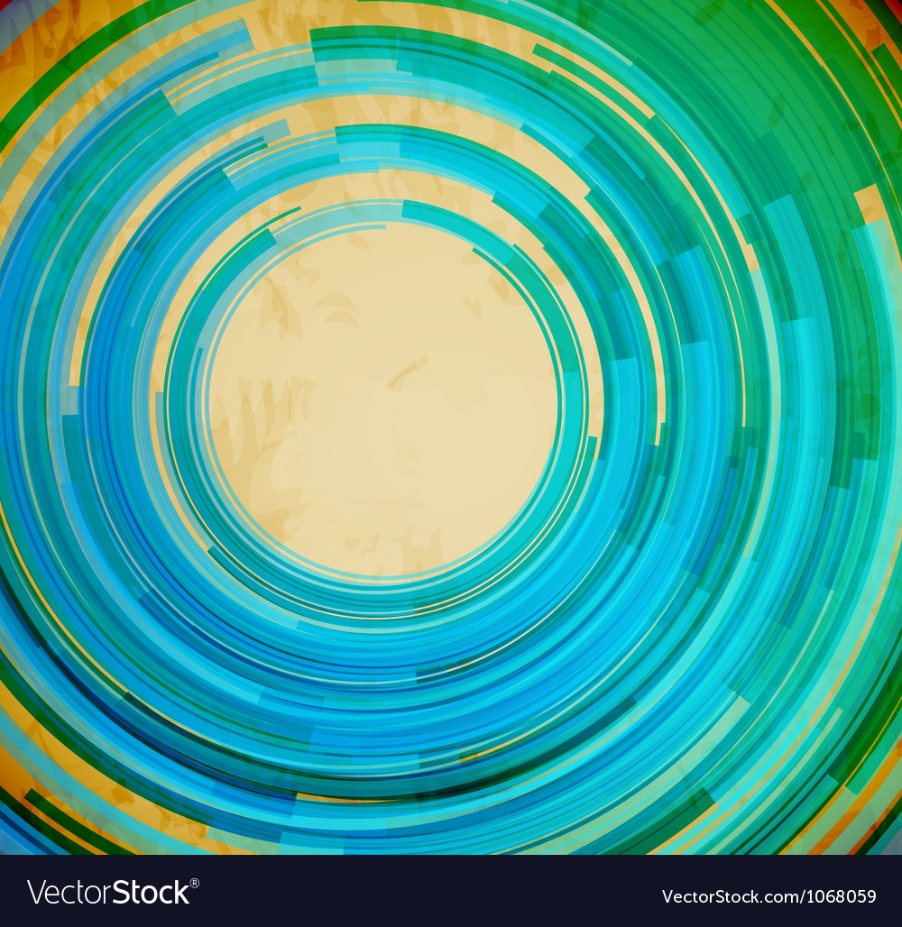 Retro blue swirl shape abstract background vector