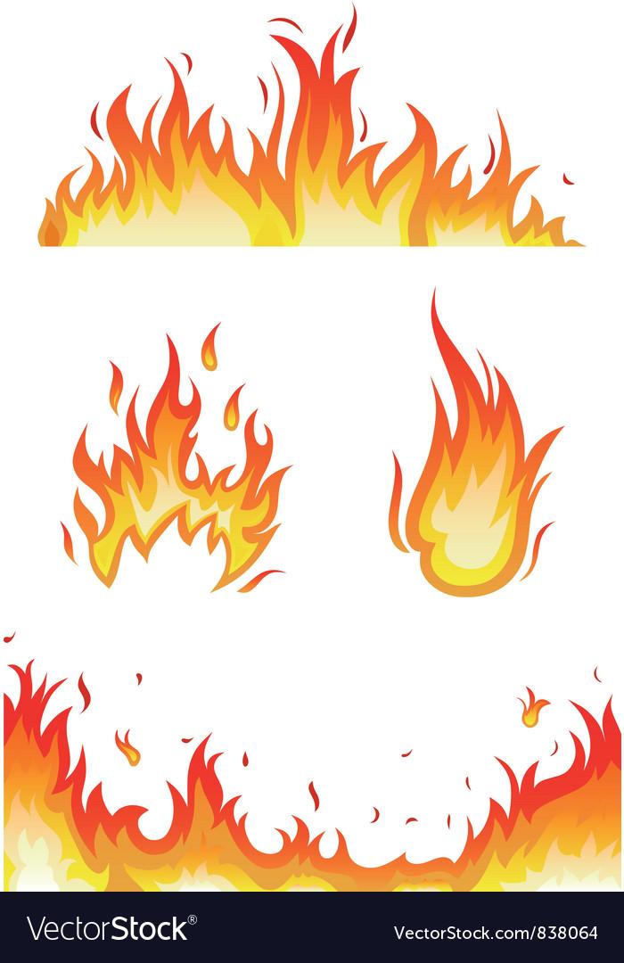 Fire flames vector by kreatiw - Image #838064 - VectorStock