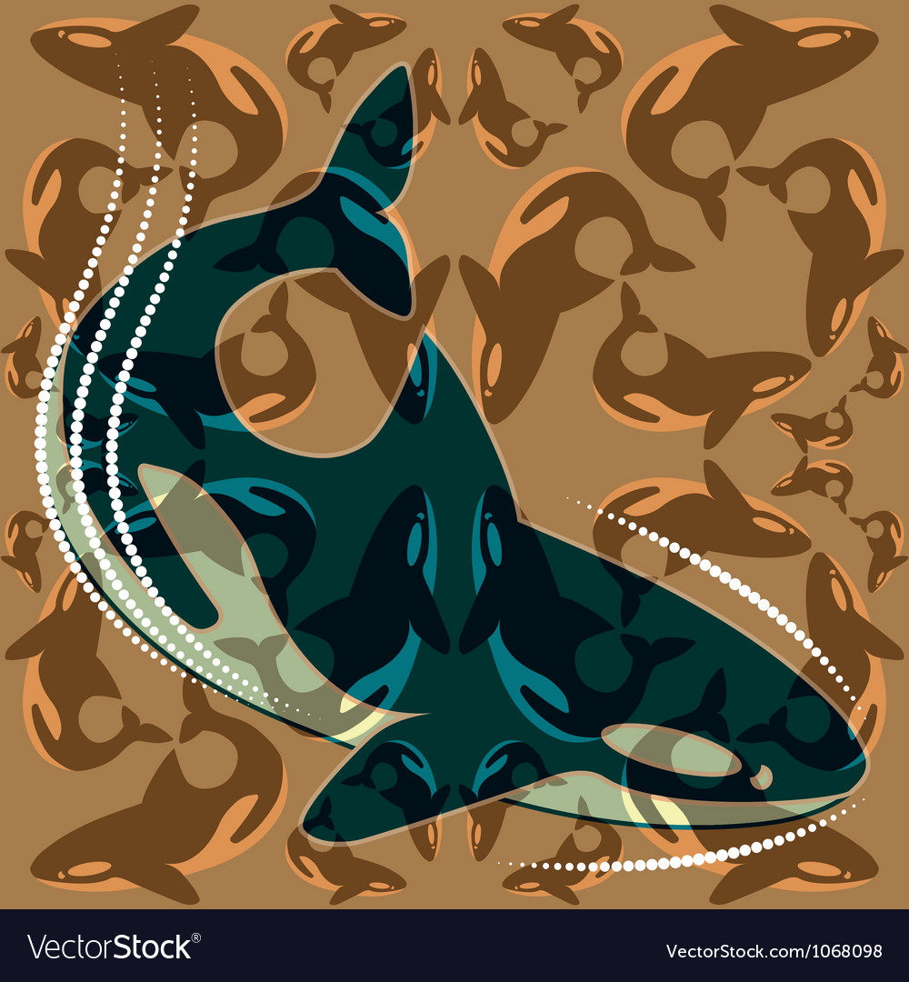 Whales vector