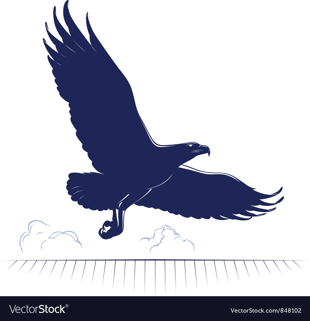 Flying eagle vector