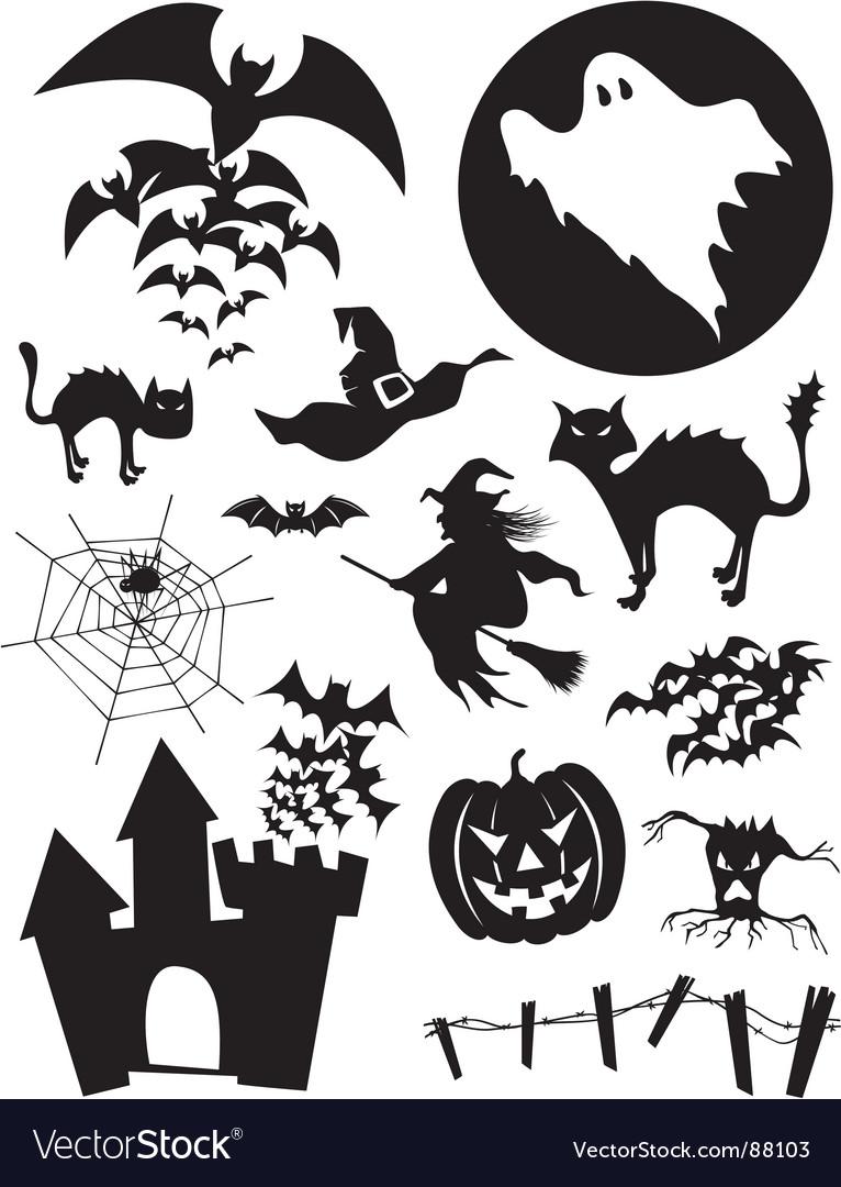 Halloween Vectors halloween vector background Halloween Set Vector