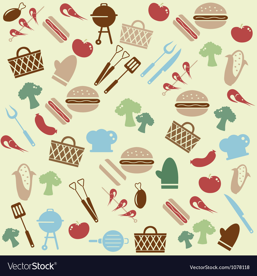 Barbeque pattern vector