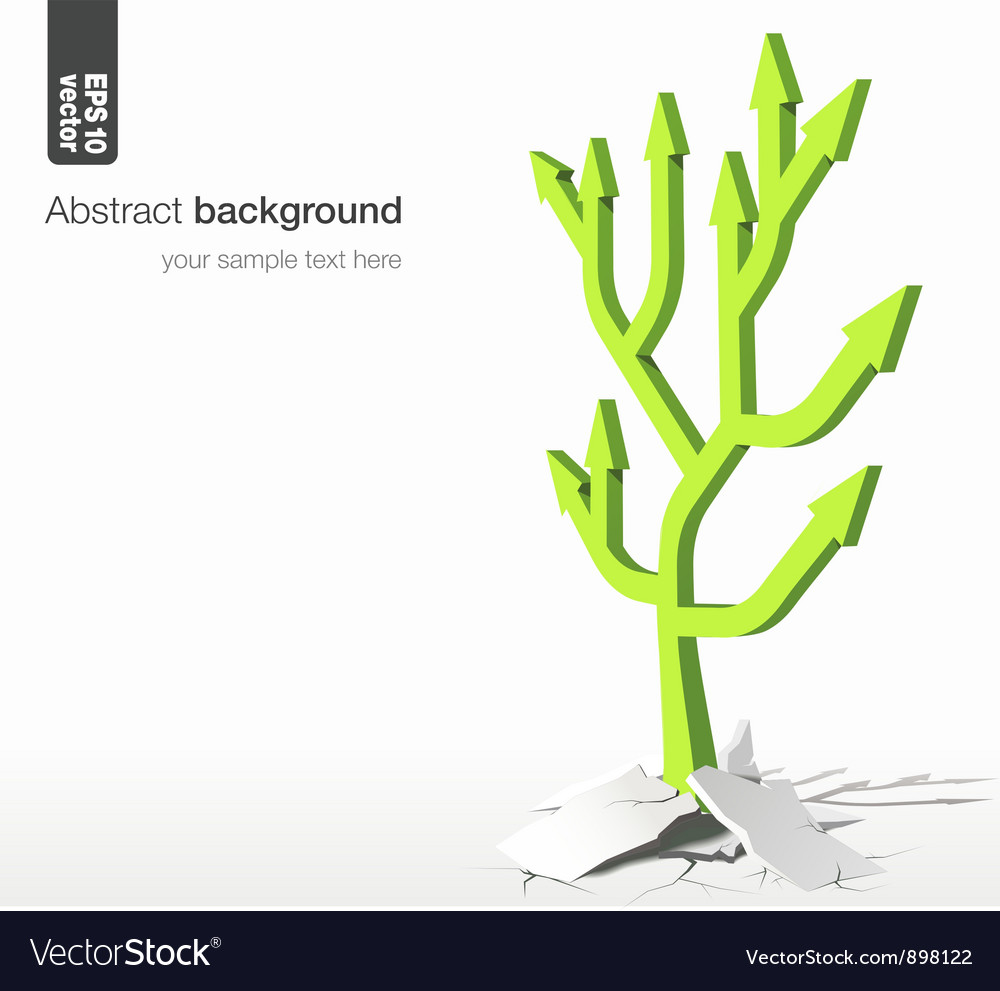 Arrows tree  growth success concept vector