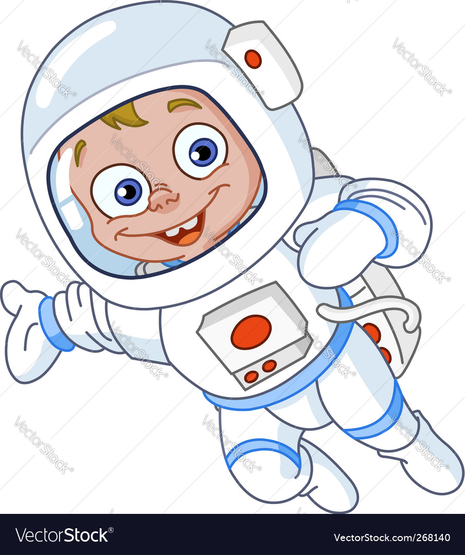 Young astronaut vector