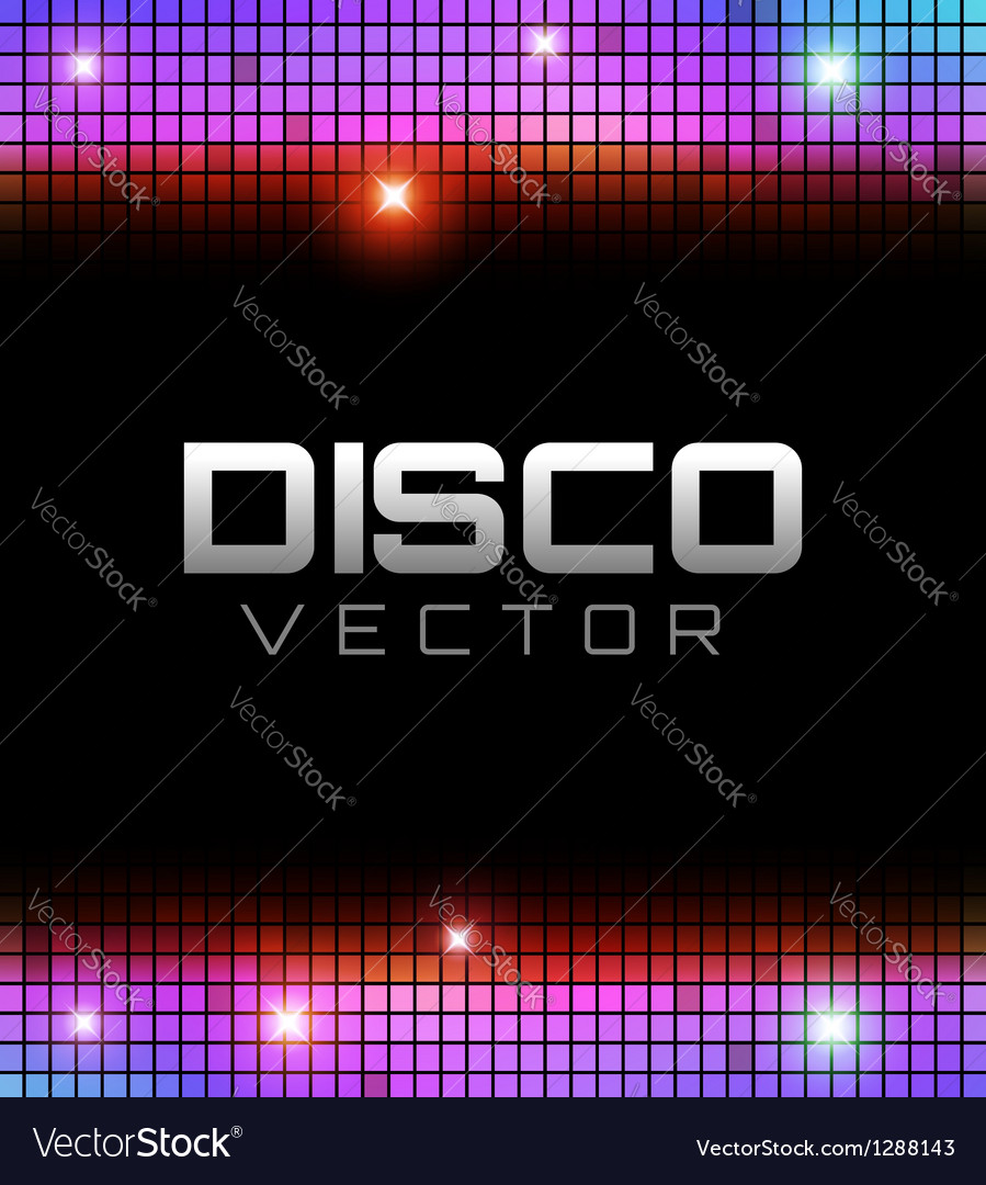 Disco party design vector