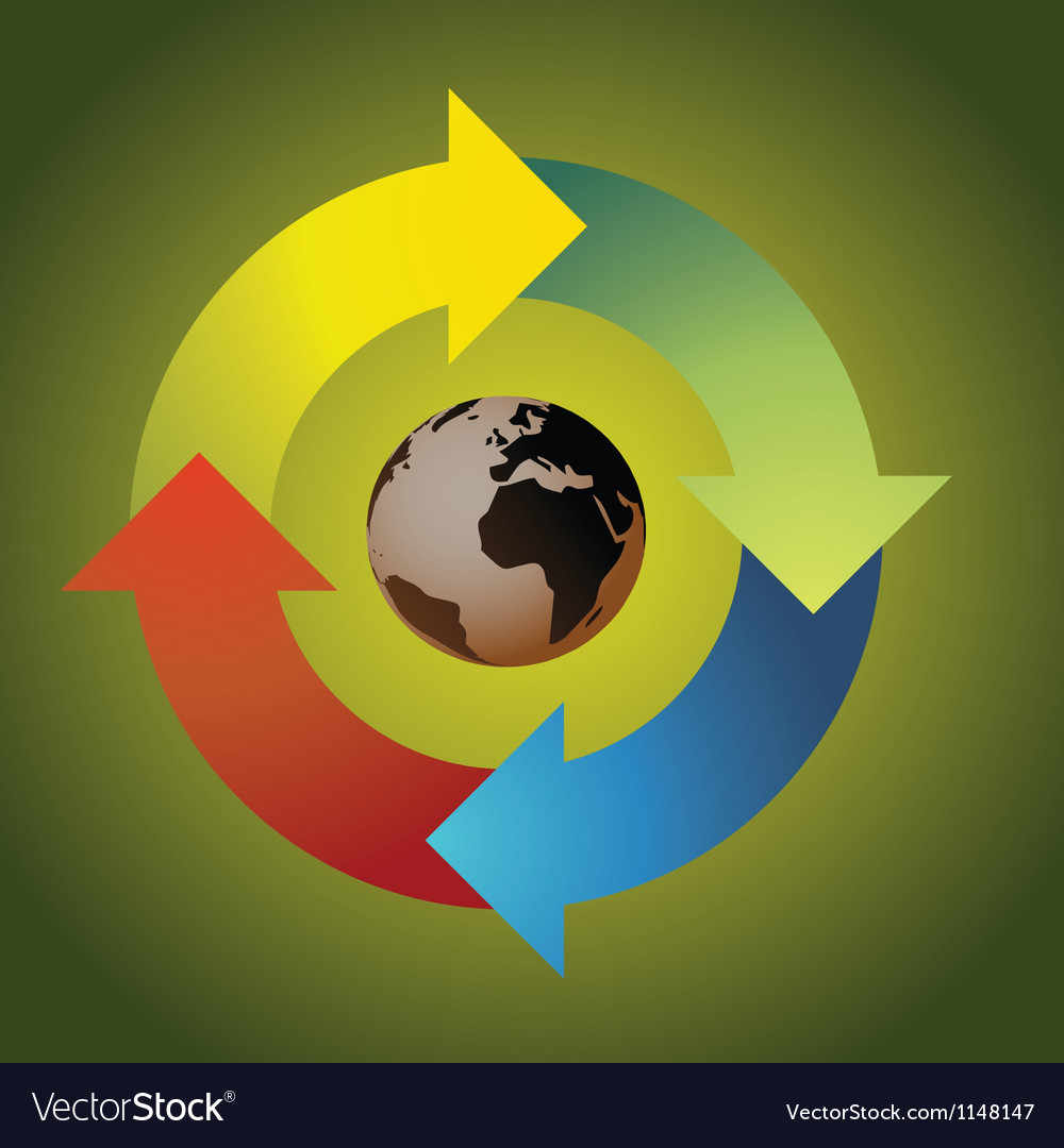 Recycle earth vector